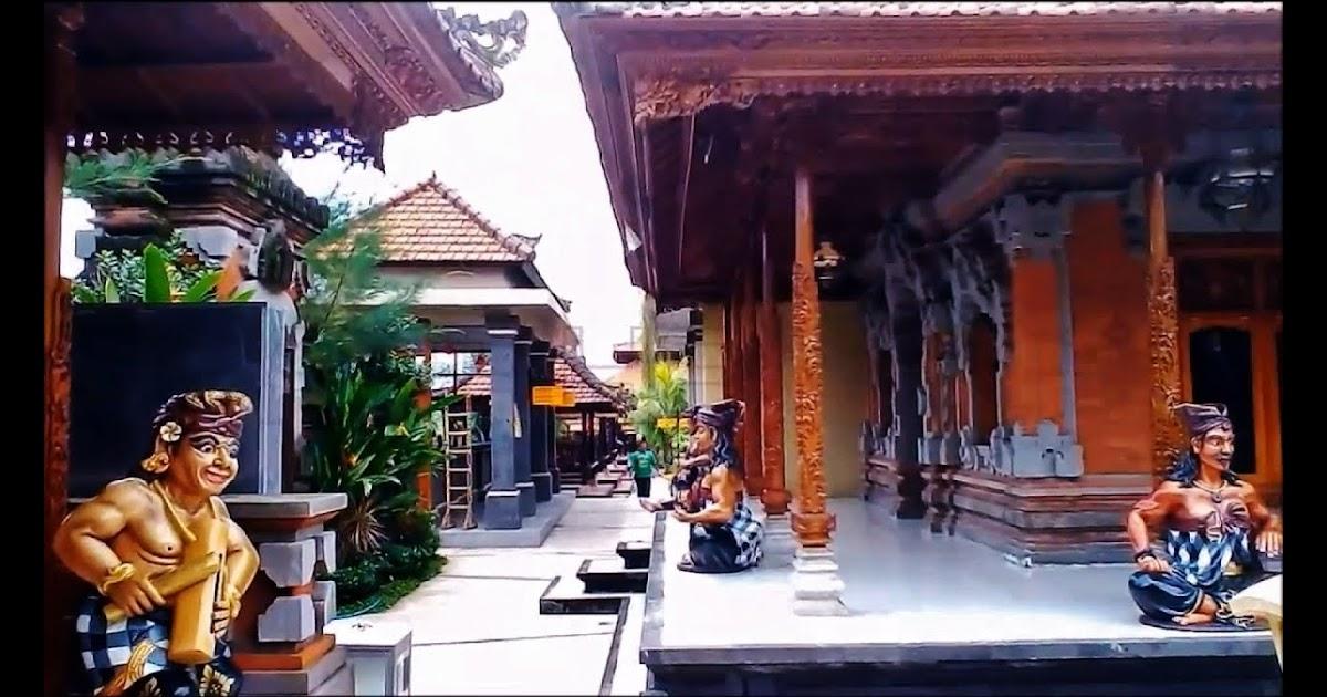 Sketsa Rumah Adat Bali Gapura Candi Bentar