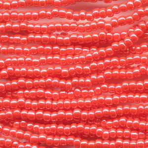 66435046 Czech Seedbeads - 11/0 Seedbead - Opaque Dark Orange Lustre (hank)