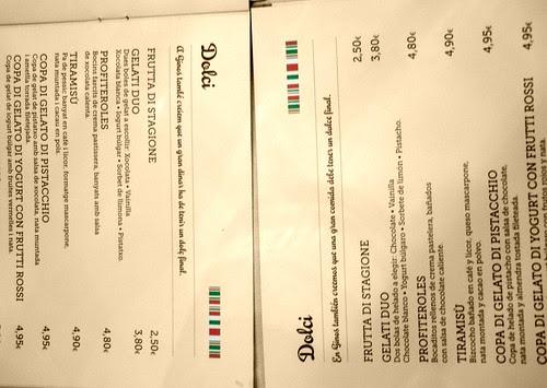 Menús del Gino's - Gino's menu