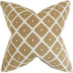 Fallon Geometric Floor Pillow Copper