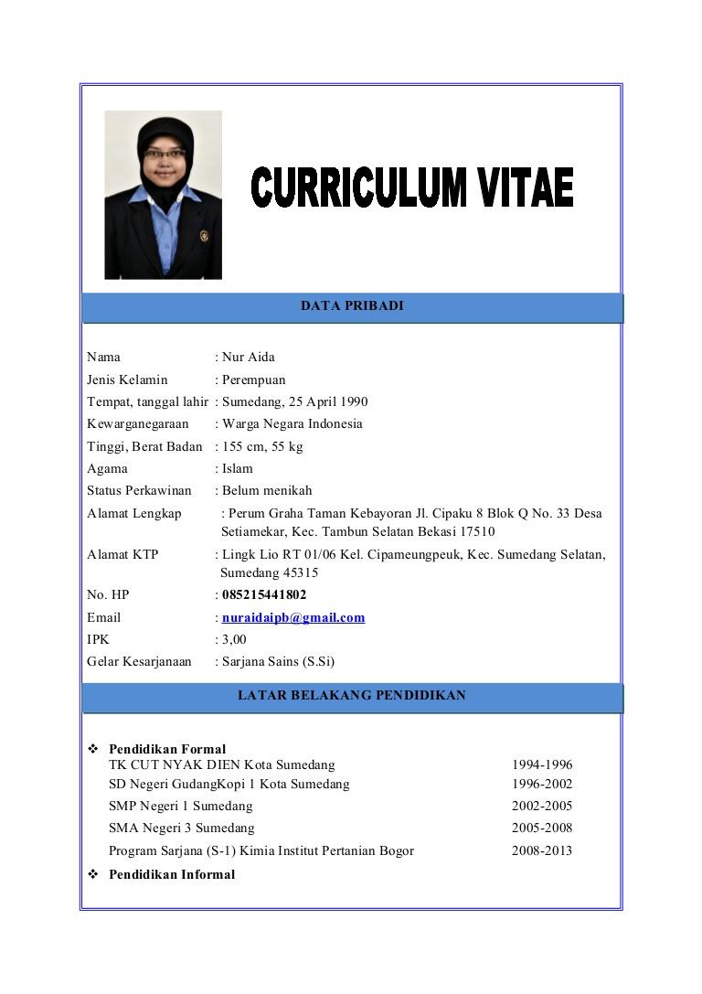 Contoh Resume Bahasa Indonesia Dan Inggris Contoh Curriculum Vitae