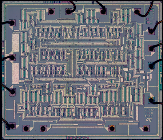 Reverse engineering an HCF4056 BCD-to-7 segment decoder/driver chip from its die photo
