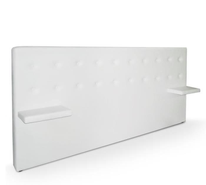 Tete de lit avec chevet lit chambre adulte tete de lit - Lit king size 200x200 pas cher ...