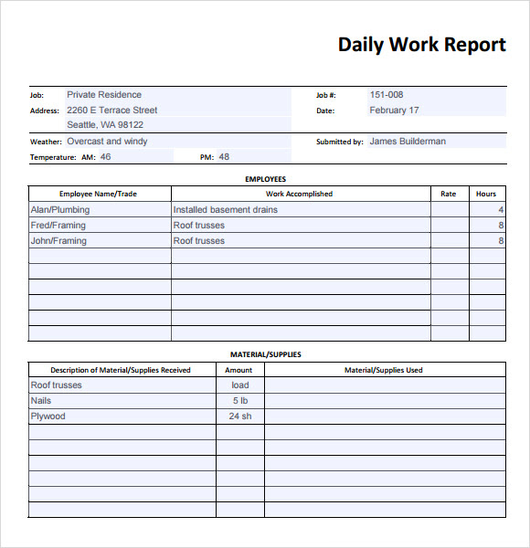 Daily Report | Best Business Template