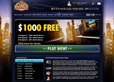 Play Free Games and Win Real Money at Spin Palace Online Casino