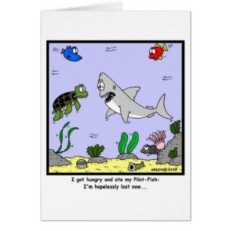 Lost: Shark Cartoon Cards