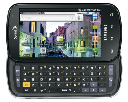 samsung epic 4g 10 Best Android Cell Phones in 2011
