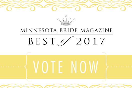 Honor your favorite Minnesota Wedding Vendors with your VOTE!