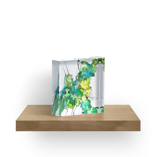 'Camouflage' Acrylic Block by Diane Liberty
