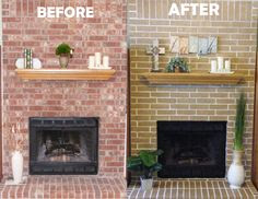 Painted Brick Fireplaces on Pinterest