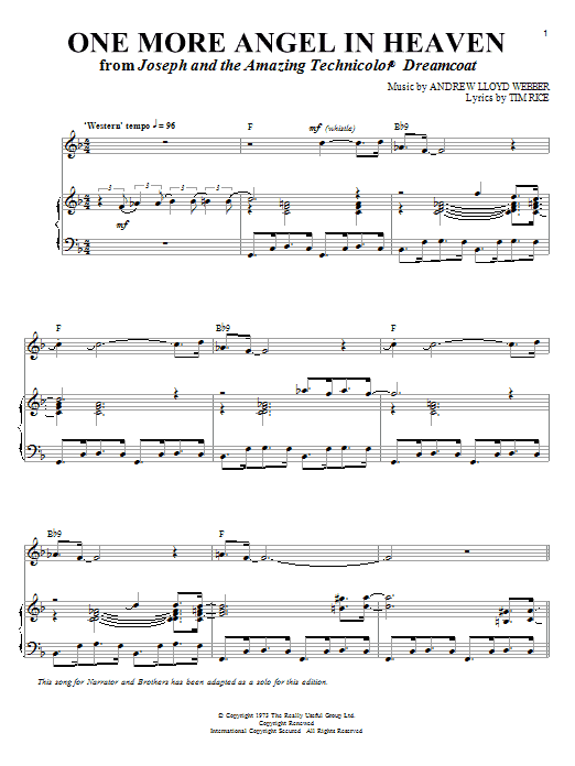 One More Angel In Heaven | Sheet Music Direct