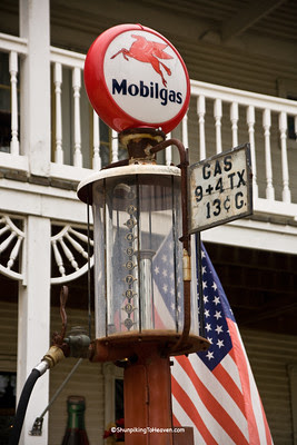 Antique Mobilgas Pump at Mellon's Country Store, Stone County, Arkansas