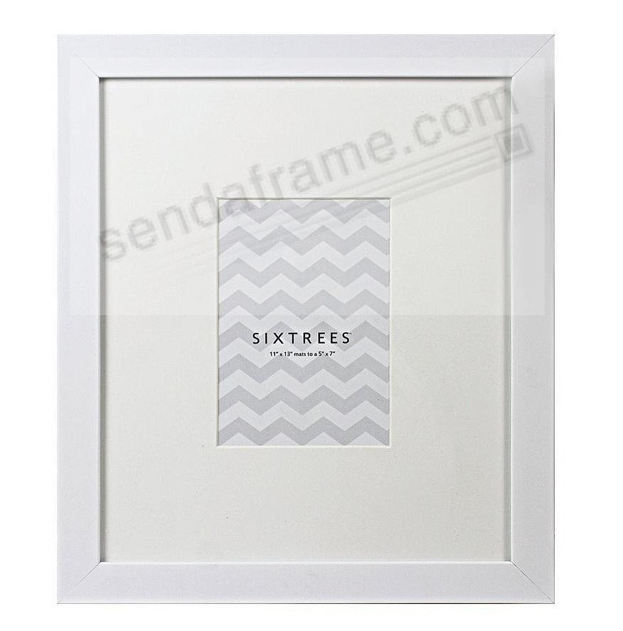 White Matted 11x135x7 Frame By Sixtrees Picture Frames Photo