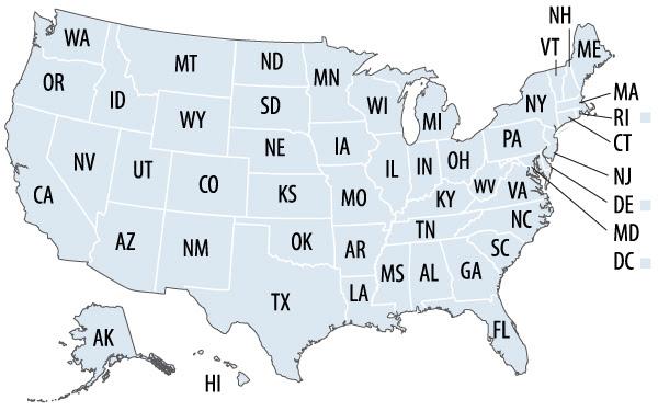 Us Map Postal Abbreviations Quiz