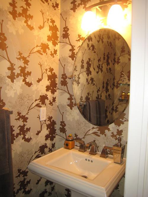 powder room contemporary bathroom