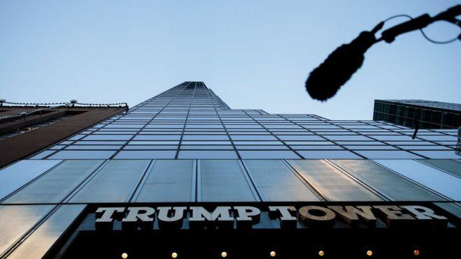 Torre Trump vista desde abajo.