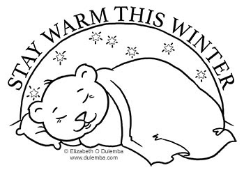 free hibernation coloring pages - photo#23