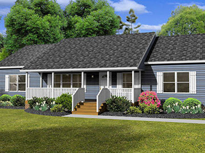 The Mitchell Max Ranch Style Modular Home is a Ranch Style Home with a Twist - Lincolnton, NC