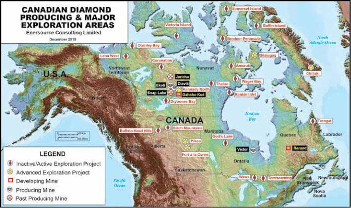 Resultado de imagen para diamonds canadian mines locations