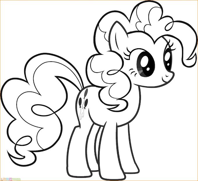 Menggambar Mewarnai Kuda Poni
