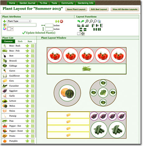 Vegetable Garden Layout Tool Snapshot Small