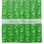 Personalize Christmas Green Ruched Satin Scallops