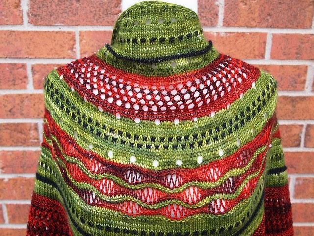 test knit-Misae shawl