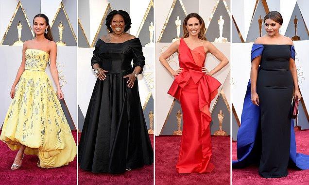 Oscar 2016 de estrelas piores vestidos incluem Heidi Klum em um vestido roxo