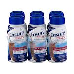 Ensure Plus Nutrition Shake, Milk Chocolate - 6 pack, 8 fl oz bottles