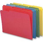 Smead File Folder, Reinforced 1/3-Cut Tab, Letter Size, Assorted Colors, 12 per Pack (11641)