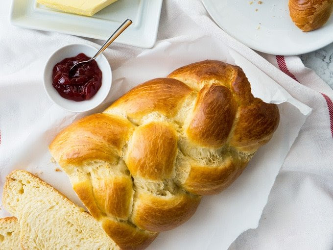 Easy Sweet Braided Easter Bread w/ lime and heavy cream