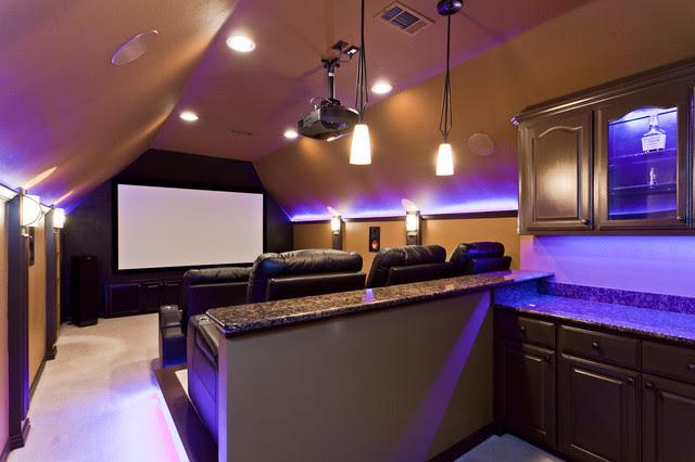 Modern Media Spaces - contemporary - media room - dallas - by ...