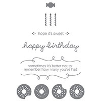 Sprinkles on Top Clear-Mount Stamp Set by Stampin' Up!