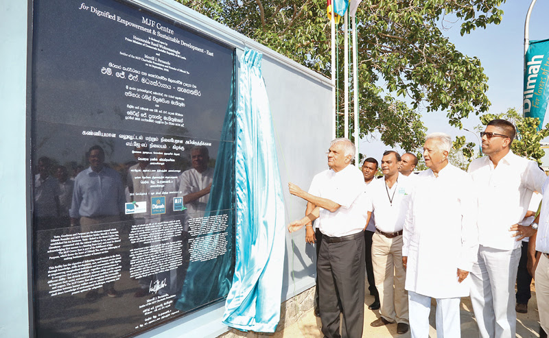 PM opens MJF Centre in Kalkudah