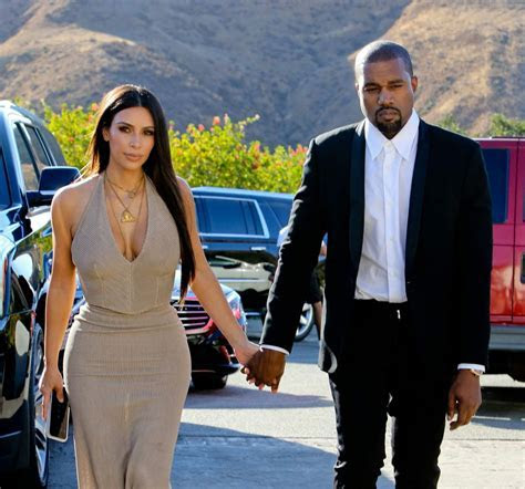 KIM KARDASHIAN and Kanye West at Wedding of Their Friends