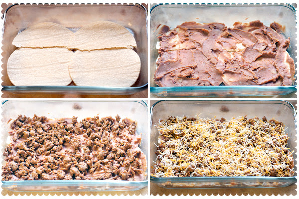 Steps for Mexican Lasagna