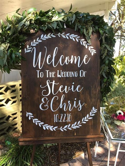 Welcome to the Wedding of Decal Sign Welcome Wedding