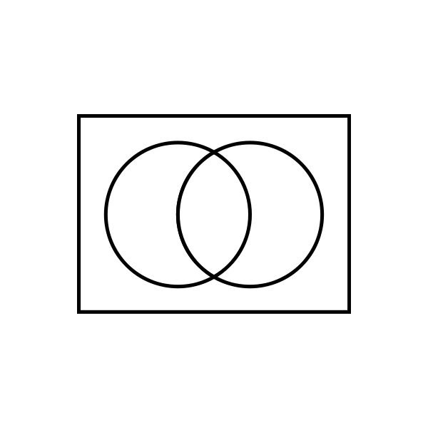 Blank Venn Diagram With 2 Circles - ClipArt Best