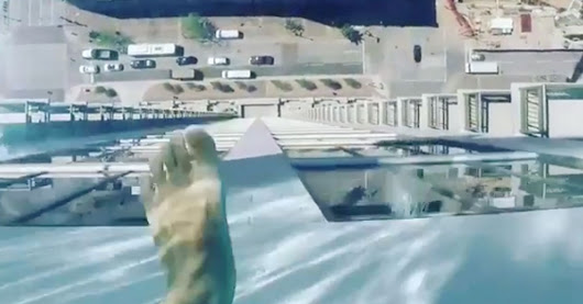 DON'T LOOK DOWN! You're 500 Feet Over Houston In This Glass Bottom Pool!