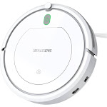 BEAUDENS KK290AU-AB Vacuum Cleaner smart cleaning robot Automatic Planing for Home Tile Hardwood Floors and Low Pile Carpet White