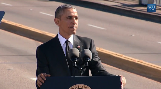 Read the full transcript of Obama's rousing, emotional speech in Selma