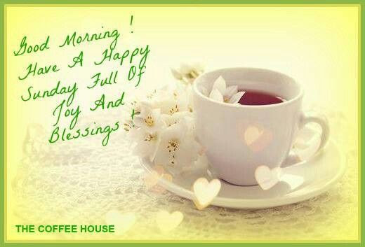 Good Morning! Have A Happy Sunday Full Of Joy And ...