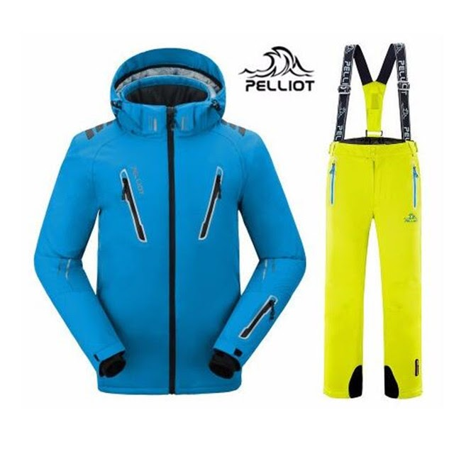 2019 Pelliot male ski suits jacketpants Men waterproofbreathable thermal cottompadded super warm