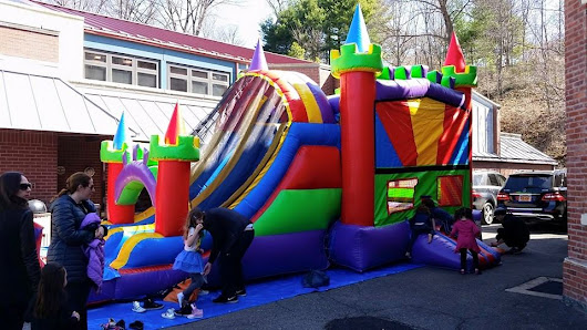 Royal Bouncy Castle with Inflatable Slide Party