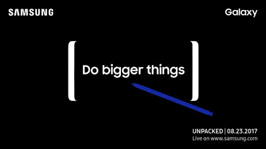 Samsung will reveal the Galaxy Note 8 on August 23