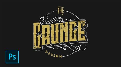 membuat desain logo retro hipster photoshop