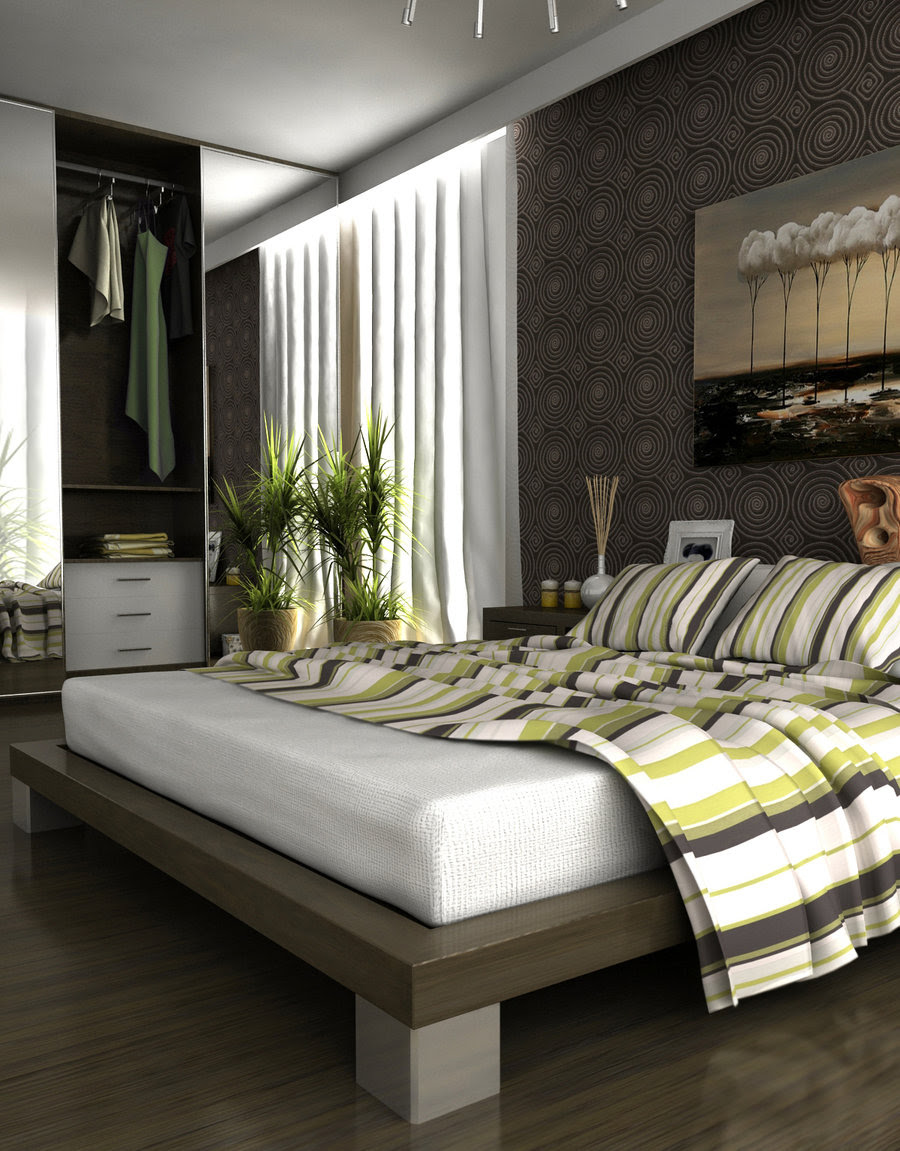   gray bedroomInterior Design Ideas.