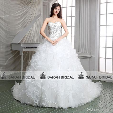 2015 Gorgeous Ball Gown Church Wedding Dresses White