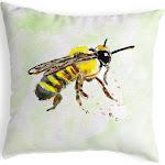 Betsy Drake Bee No Cord Pillow 18x18 NC731B