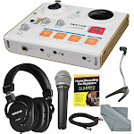 Tascam US-32 MinStudio Personal Audio Interface for Podcasting and Deluxe Bundle